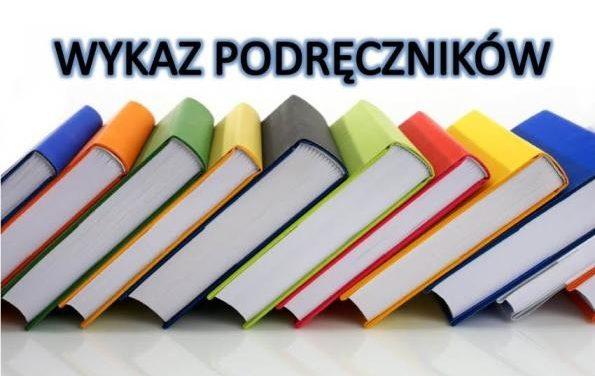Wykaz podręczników wroku szkolnym 2019-2020
