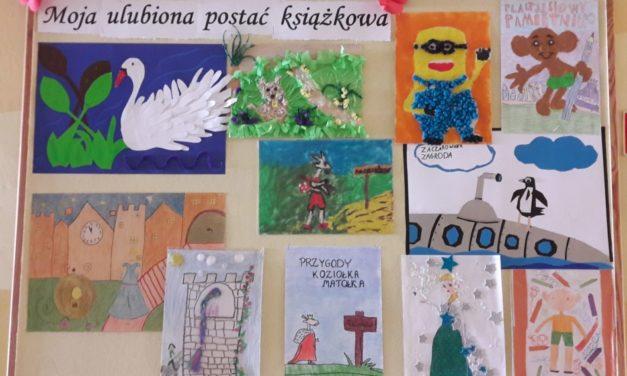 """Szkolny konkurs plastyczny """"Moja ulubiona postać książkowa"""" dla uczniów klas 2 i3"""