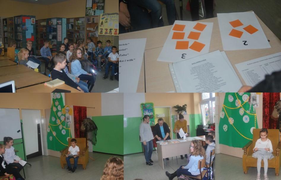 Szkolny konkurs pięknego czytania bajek Adama Mickiewicza