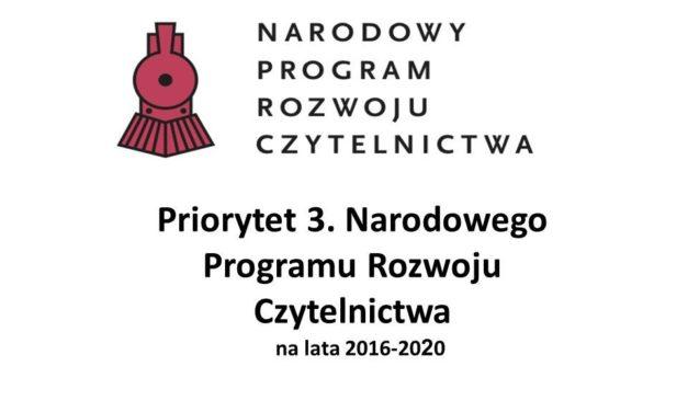 Sprawozdanie zdziałań podjętych wramach Narodowego Programu Rozwoju Czytelnictwa