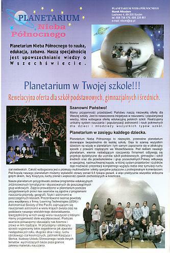 Planetarium wnaszej szkole