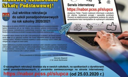 Rekrutacja doszkół ponadpodstawowych 2020 -2021