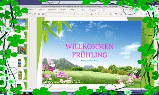 Der Frühling ist da! Wiosenne lekcje języka niemieckiego – uczniowie wroli prowadzących.